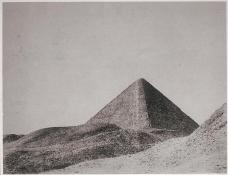 John Beasly Greene; Pyramid, Egypt;1853-54; salted paper print from waxed paper negative; 22.9 x 28.5 cm