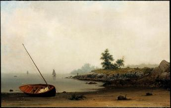 Martin Johnson Heade; The Stranded Boat; 1863; oil on canvas; 58.1 x 93.66 cm; Museum of Fine Arts, Boston