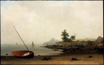Martin Johnson Heade; The Stranded Boat; 1863; oil on canvas; 58.1 x 93.66 cm; Museum of Fine Arts, Boston