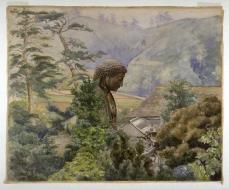 John La Farge; The Great Statue of Amida Buddha at Kamakura; c.1887; watercolor over graphite on wove paper; 40.5 x 49.2 cm; Fine Arts Museum of San Francisco