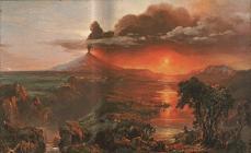 Frederic Edwin Church; Cotopaxi, oil study; 1861; oil