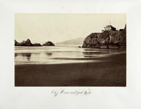 Carlton E. Watkins; Cliff House and Seal Rock; 1868; albumen silver print from glass negative; The Metropolitan Museum of Art