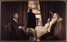 Henry Peach Robinson; Fading Away; 1858; albumen print; 24.4 x 39.3 cm; George Eastman House, Rochester, NY
