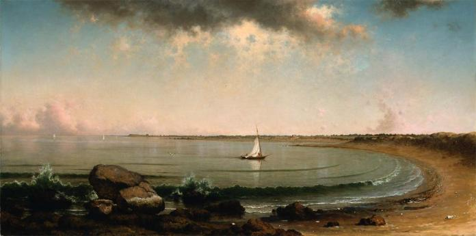 Martin Johnson Heade; Shore Scene: Point Judith; 1863; oil on canvas; 76.52 x 153.03 cm; Museum of Fine Arts, Boston