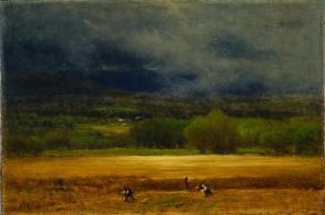 George Inness; The Wheat Field; c. 1875-1877; oil on canvas; 50.8 cm x 76 cm; The Cleveland Museum of Art