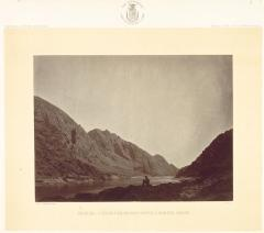 Timothy O'Sullivan; Iceberg Canyon, Colorado River Looking Above; c.1871; albumen print from wet collodion negative; The Cleveland Museum of Art
