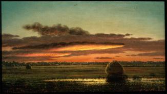 Martin Johnson Heade; Sunset Over the Marshes; c.1890; oil on canvas; 26.03 x 46.35 cm; Museum of Fine Arts, Boston