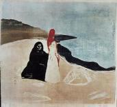 Edvard Munch; Women on the Beach; 1898; woodcut