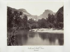 Carlton E. Watkins; North and South Dome, Yosemite; c.1876; albumen silver print from glass negative; The Metropolitan Museum of Art
