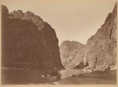 Timothy O'Sullivan; Light and Shadow in Black Canyon, from Mirror Bar; 1871; albumen print; George Eastman House