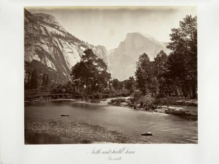 Carlton E. Watkins; North and South Dome, Yosemite; c.1875; albumen silver print from glass negative; The Metropolitan Museum of Art