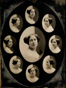 Albert Sands Southworth; Portrait of a Woman in Nine Oval Views; 1845-1861; daguerrotype; 20 x 15.24 cm; Museum of Fine Arts, Boston