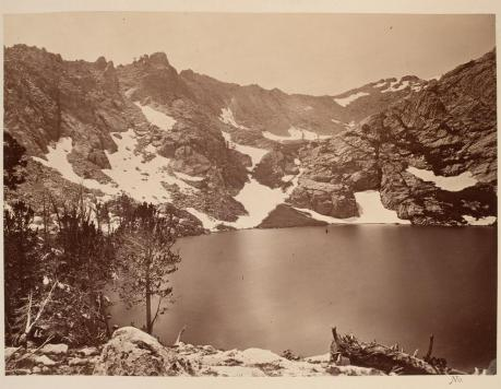 Timothy O'Sullivan; Lake Marian, East Humboldt Mountains; 1868; albumen print; 19.9 x 27.0 cm; George Eastman House