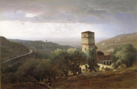 George Inness; View of Rome from Tivoli; 1872; oil on canvas; 76.2 x 114.3 cm; Dallas Museum of Art