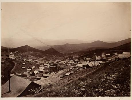 Timothy O'Sullivan; Gold Hill, Nevada; albumen print; 19.9 x 26.9 cm; George Eastman House