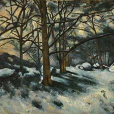 Paul Cézanne; Melting Snow, Fontainbleau; 1879-80; oil on canvas; 73.5 x 100.7 cm; The Museum of Modern Art