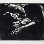 Käthe Kollwitz; Sleeping Woman with Child; 1929; woodcut; Saint Louis Art Museum, The Julian and Hope Edison Print Fund and Museum Shop Fund
