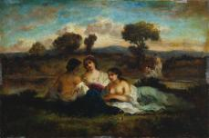 Narcisse Dias de la Peña; The Bathers; c.1848; oil on wood; The Cleveland Museum of Art