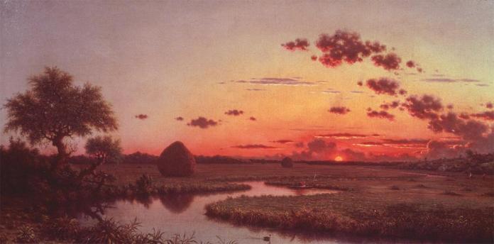 Martin Johnson Heade; Sunset on the Marshes; c.1865; oil on canvas