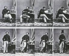 André Adolphe Eugène Disdéri; Uncut print from a Carte-deVisite negative; 1860