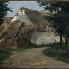Rosa Bonheur; The Farm at the Entrance of the Wood; c.1850s; oil on fabric; 28.4 x 40.3 cm; The Cleveland Museum of Art