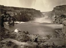 Timothy O'Sullivan; Shoshone Falls, Idaho; 1868; albumen print; 19.8 x 26.9 cm; George Eastman House