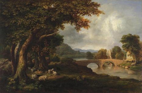 George Inness; Landscape; 1848; oil on canvas; 74.9 x 113 cm; Fine Arts Museum of San Francisco