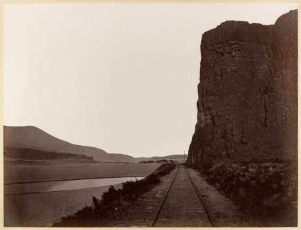Carlton E. Watkins; Cape Horn near Celilo; 1876; albumen silver print from glass negative; The Metropolitan Museum of Art