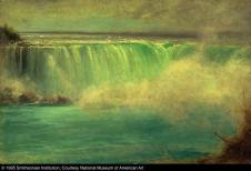 George Inness; Niagara Falls; 1885; oil on wood; 40.2 x 60.9 cm; Smithsonian American Art Museum