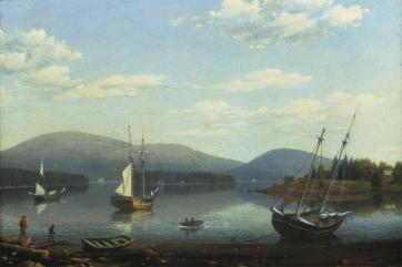 Fitz Hugh Lane; Somes Harbor, Maine; 1850; oil on canvas