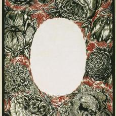 Sergei Chekhonin; 1914; mixed media on yellow paper; 33.5 x 24.9 cm