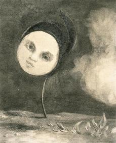 Odilon Redon; Strange Flower: Little Sister of the Poor; 1880; charcoal; 40.4 x 33.2 cm