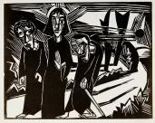 Karl Schmidt-Rottluff; The Road to Emmaus; 1918; woodcut; Staatliche Museen zu Berlin