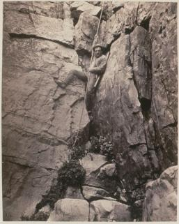 "Timothy O'Sullivan; ""Facile decensus"" Clarence King; 1868; albumen print; 28.0 x 22.6 cm; George Eastman House"
