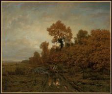Théodore Rousseau; Gathering Wood in the Forest of Fontainbleau; c.1850-60; oil on canvas; 54.6 x 65.4 cm; Museum of Fine Arts Boston