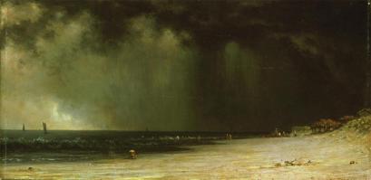 Martin Johnson Heade; Thunderstorm, Narragansett Bay; c.1870; oil on paper, mounted on canvas; Carnegie Museum of Art