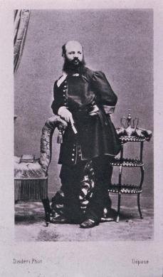 André Adolphe Eugène Disdéri; Self Portrait; wet plate