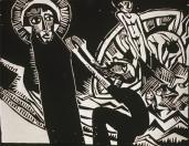 Karl Schmidt-Rottluff; Peter Fishing; 1918; wodcut; Grunwald Center for the Graphic Arts