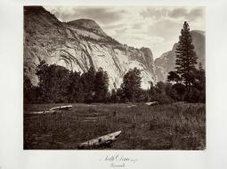 Carlton E. Watkins; North Dome, 3,725 feet, Yosemite; c.1876; albumen silver print from glass negative; The Metropolitan Museum of Art