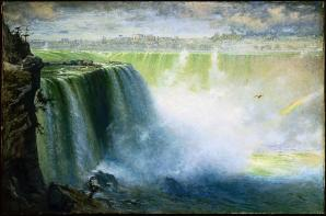 George Inness; Blue Niagara; 1884; oil on canvas; 122.87 x 183.51 cm; Museum of Fine Arts, Boston
