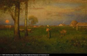 George Inness; Sundown; 1884; oil on canvas; 77.8 x 114.2 cm; Smithsonian American Art Museum