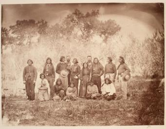 Timothy O'Sullivan; Pah-Utes of Pyramid Lake; 1868; albumen print; 21.2 x 28.1 cm; George Eastman House