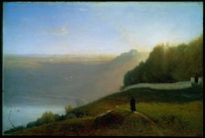 George Inness; Lake Nemi; 1872; oil on canvas;