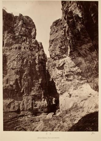 Timothy O'Sullivan; Limestone Canyon, East Humboldt Mountains; 1868; albumen print; 27.0 x 19.7 cm; George Eastman House