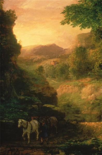 George Inness; In the Berkshires (left bottom and mid); c.1848-50; oil on canvas; Joslyn Art Museum