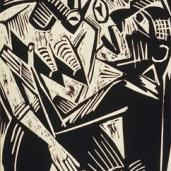 Max Pechstein; Woman Desired By Men; 1920; woodcut; Grunwald Center for the Graphic Arts