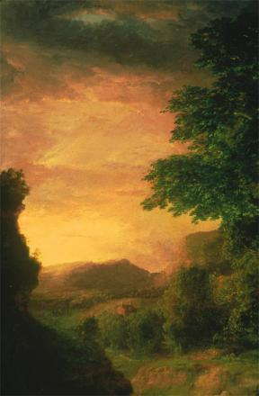 George Inness; In the Berkshires (left mid and top); c.1848-50; Joslyn Art Museum