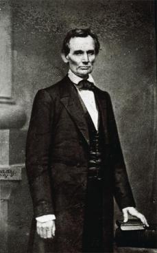 "Mathew B. Brady; Abraham Lincoln (the ""Cooper Union Portrait""); 1860; albumen print from wet collodion negative"