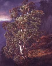 Johann C. C. Dahl; Birch Tree in the Storm; 1849; 92 x 72 cm