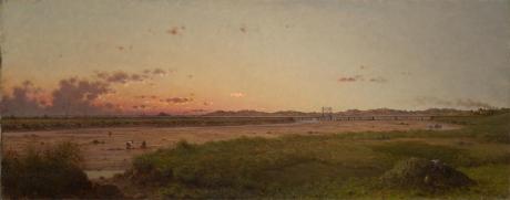 Martin Johnson Heade; Lynn Meadows; 1863; oil on canvas; 31.4 x 77.2 cm; Yale University Art Gallery